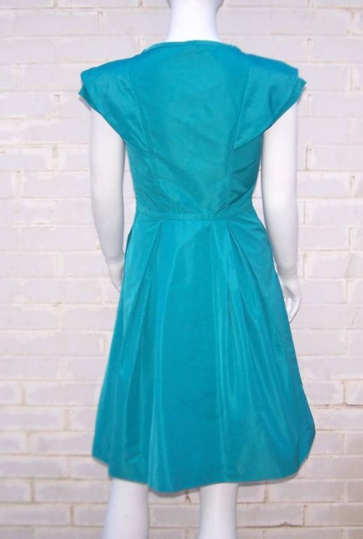 Girlish Miu Miu Aqua Blue Taffeta Party Dress  5