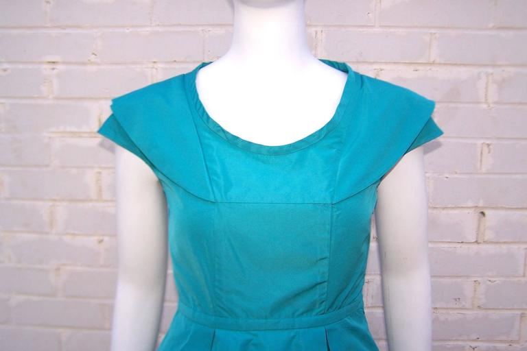 Girlish Miu Miu Aqua Blue Taffeta Party Dress  7
