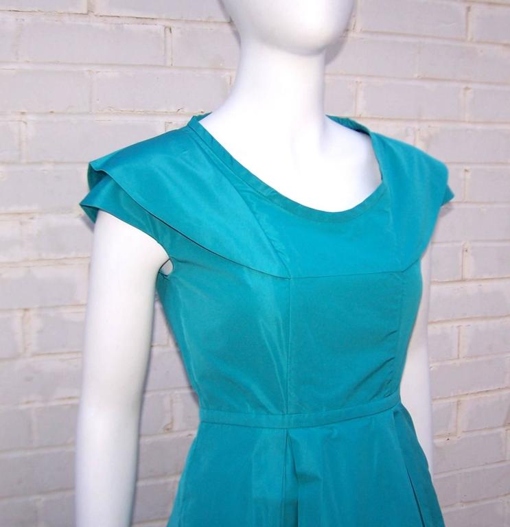 Girlish Miu Miu Aqua Blue Taffeta Party Dress  8