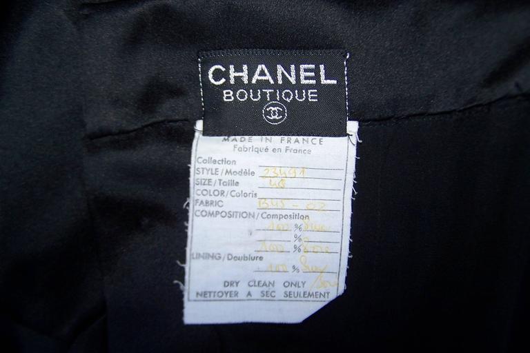 Fun & Flirty 1980's Chanel Boutique Black Silk Satin Asymmetrical Strap Dress  For Sale 6