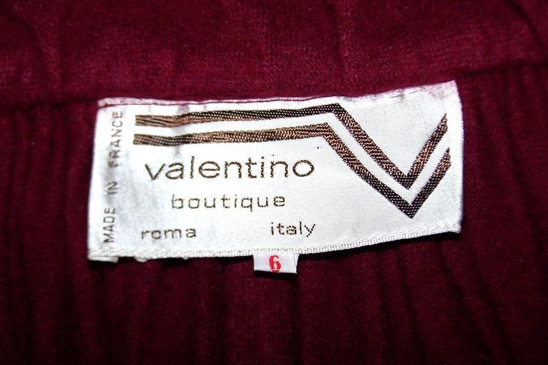 Dramatic 1970's Valentino Aubergine Angora Wool Sweater Cape With Skirt 10