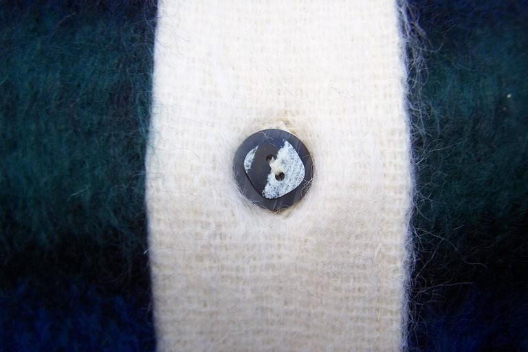 Cozy C.1950 Plaid Scottish Mohair Car Coat Jacket For Sale 3