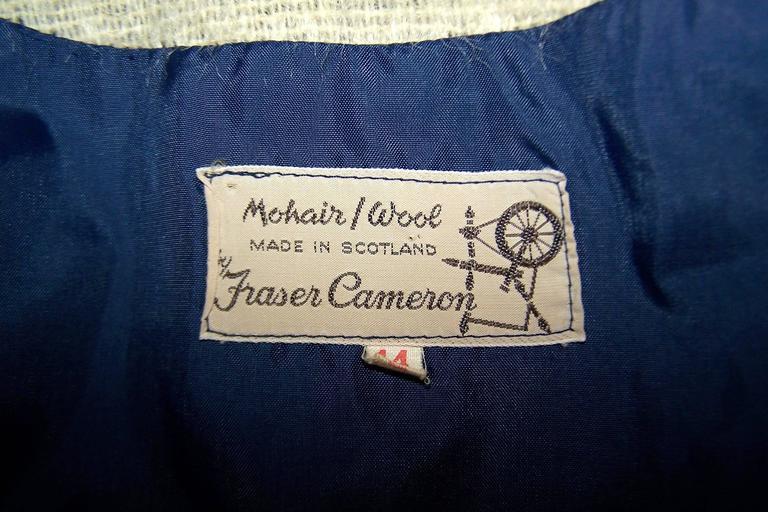 Cozy C.1950 Plaid Scottish Mohair Car Coat Jacket For Sale 5