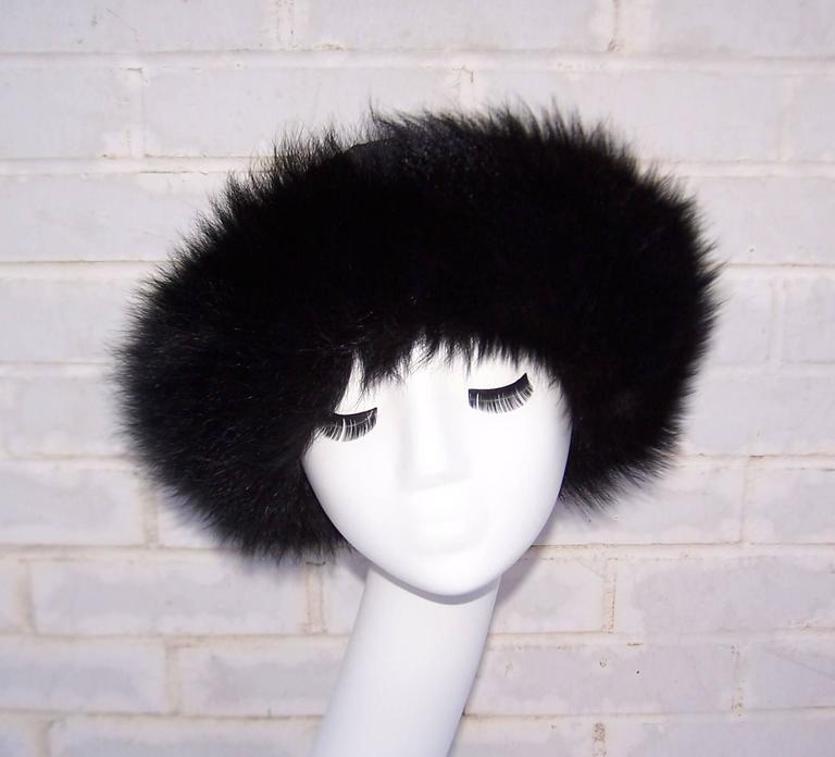 Vintage Mongolian Style Black Fox Fur & Leather Hat With Detachable Tails 7