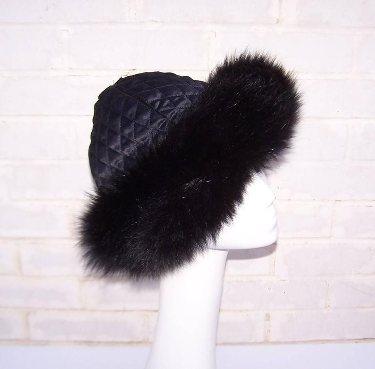 Vintage Mongolian Style Black Fox Fur & Leather Hat With Detachable Tails 8