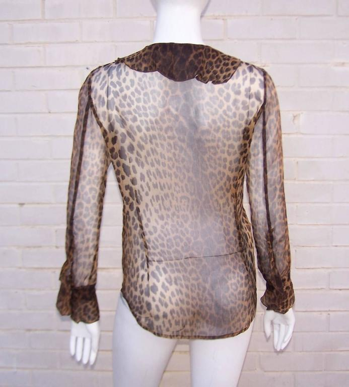 Purrrrfect 1990's Moschino Sheer Leopard Print Top 6