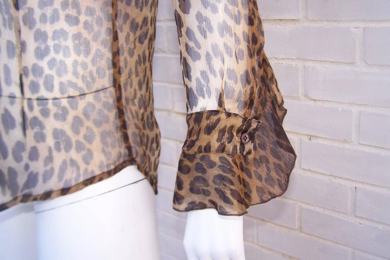 Purrrrfect 1990's Moschino Sheer Leopard Print Top 7
