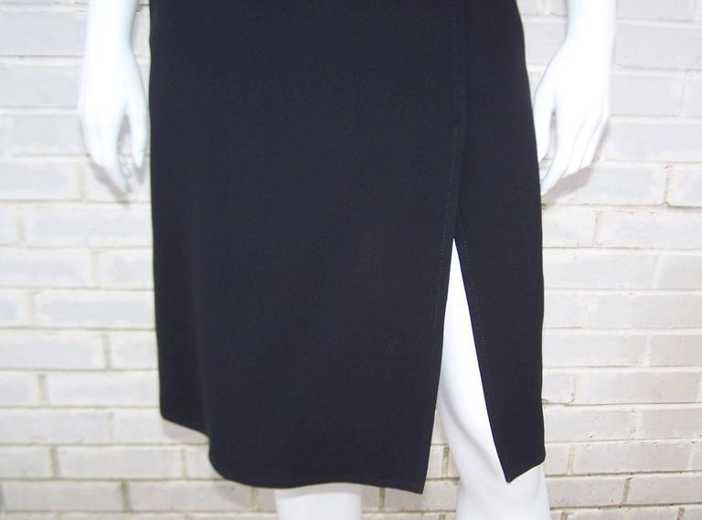 C.2000 Emilio Pucci Black Silk Tank Dress With Mod Belt For Sale 3