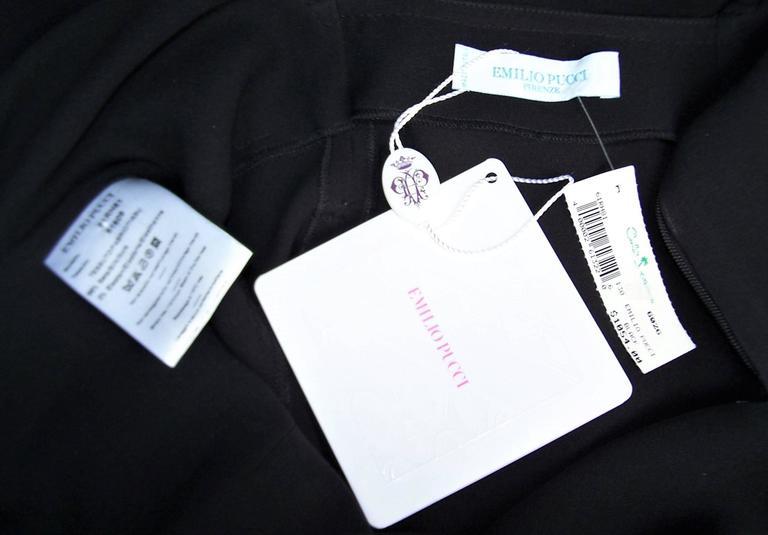C.2000 Emilio Pucci Black Silk Tank Dress With Mod Belt For Sale 6