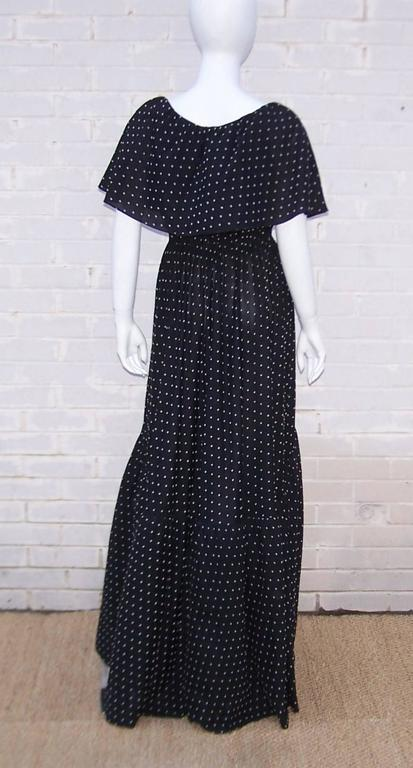 Free Spirited 1970's Halston Swiss Dot Wrap Dress For Sale 4