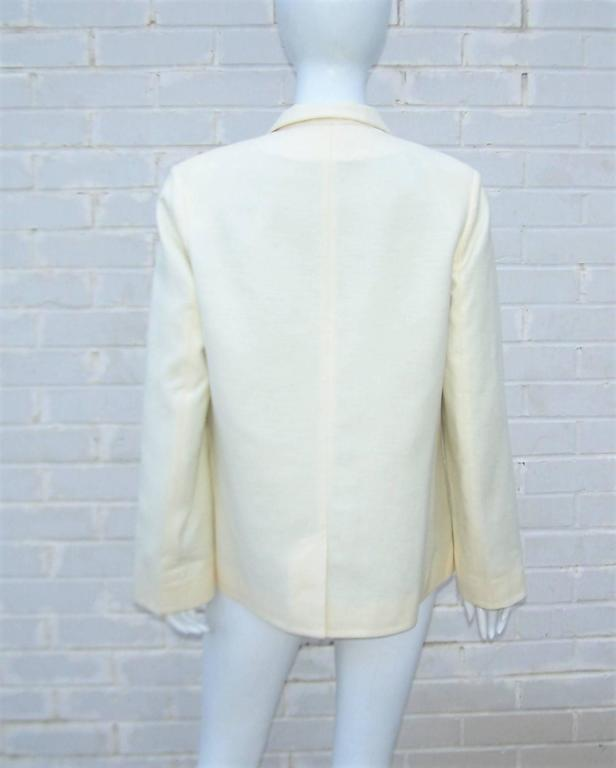 Deconstructed Balenciaga Linen Double Breasted Jacket  For Sale 2