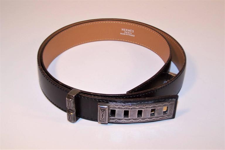 2001 Hermes Sterling Silver Touareg Collier De Chien Belt In Excellent Condition In Atlanta, GA
