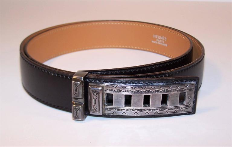 Women's or Men's 2001 Hermes Sterling Silver Touareg Collier De Chien Belt