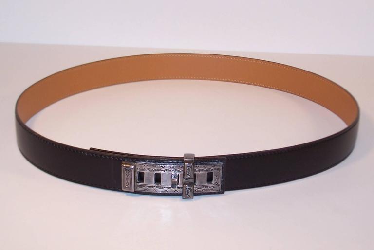 2001 Hermes Sterling Silver Touareg Collier De Chien Belt 1