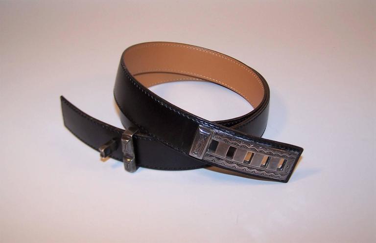 2001 Hermes Sterling Silver Touareg Collier De Chien Belt 2