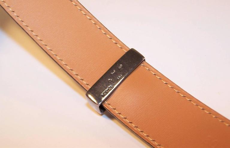 2001 Hermes Sterling Silver Touareg Collier De Chien Belt 4
