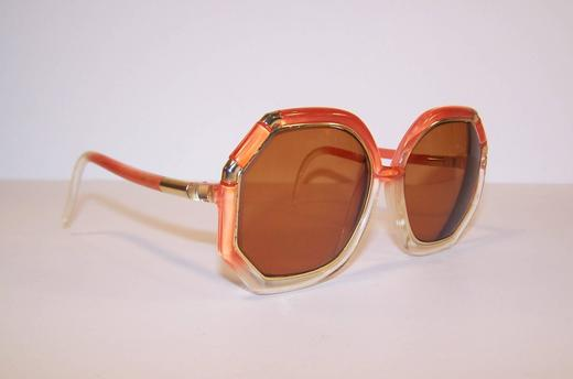 4dbb412b10 Pop Mod 1970 s Ted Lapidus Orange and Gold Sunglasses For Sale at 1stdibs