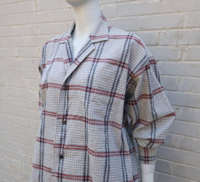 C.1980 Issey Miyake Plantation Deconstructed Skirt & Top Dress Ensemble For Sale 2