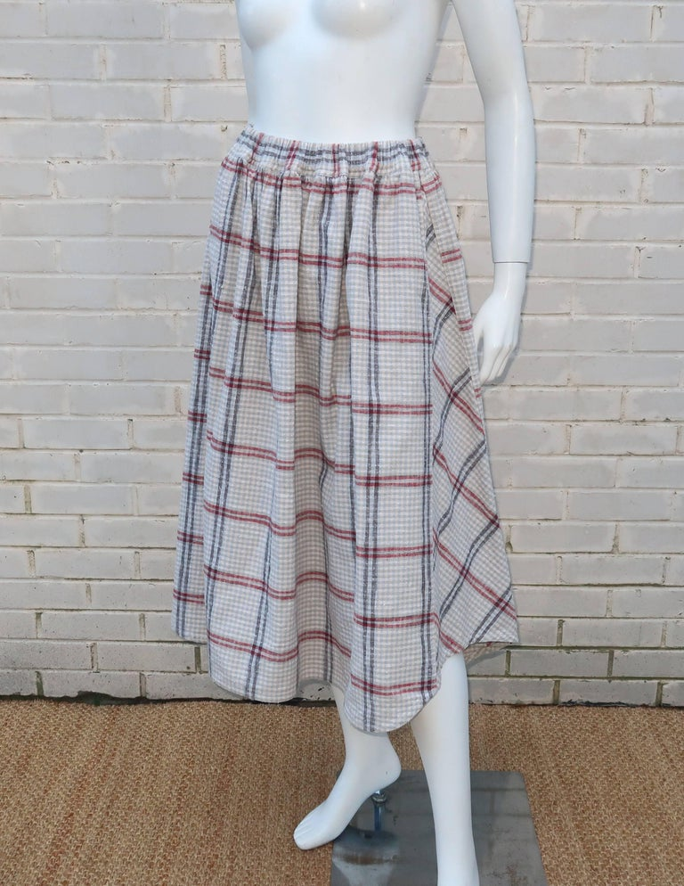 C.1980 Issey Miyake Plantation Deconstructed Skirt & Top Dress Ensemble For Sale 4