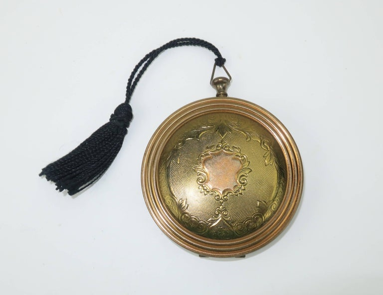 Zell Quot Pocket Watch Quot Powder Compact 1940s For Sale At 1stdibs