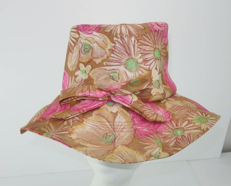 Claire Ann Floral Floppy Hat, 1960s   For Sale 2