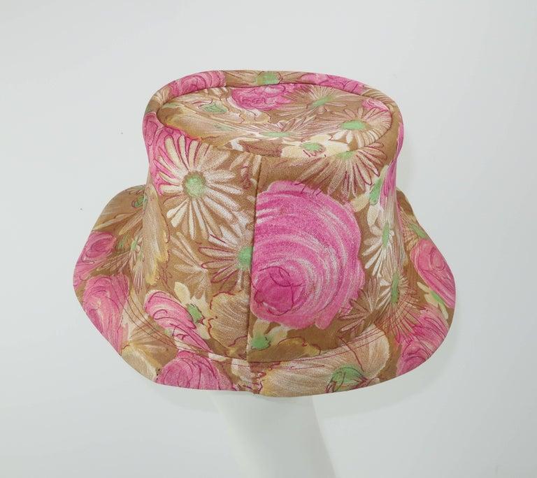 Women's Claire Ann Floral Floppy Hat, 1960s   For Sale