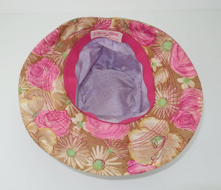 Claire Ann Floral Floppy Hat, 1960s   For Sale 3