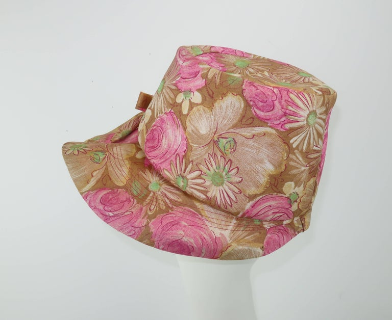 Claire Ann Floral Floppy Hat, 1960s   For Sale 1