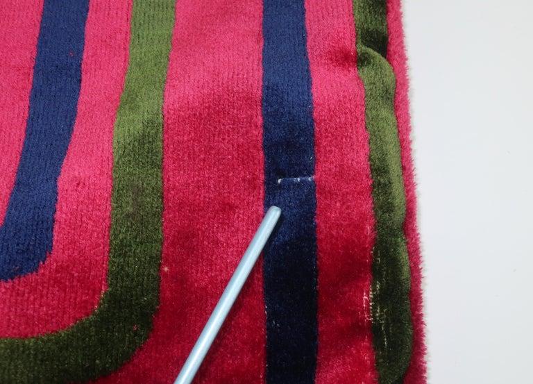 1960's Roberta Di Camerino Velvet Convertible Strap Logo Handbag For Sale 7