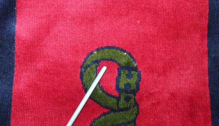 1960's Roberta Di Camerino Velvet Convertible Strap Logo Handbag For Sale 8