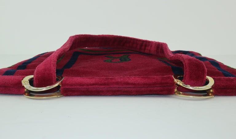 1960's Roberta Di Camerino Velvet Convertible Strap Logo Handbag For Sale 4
