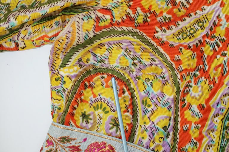 Eloise Curtis Exotic Mod Paisley Tunic Dress and Pant Suit, 1960s  For Sale 8
