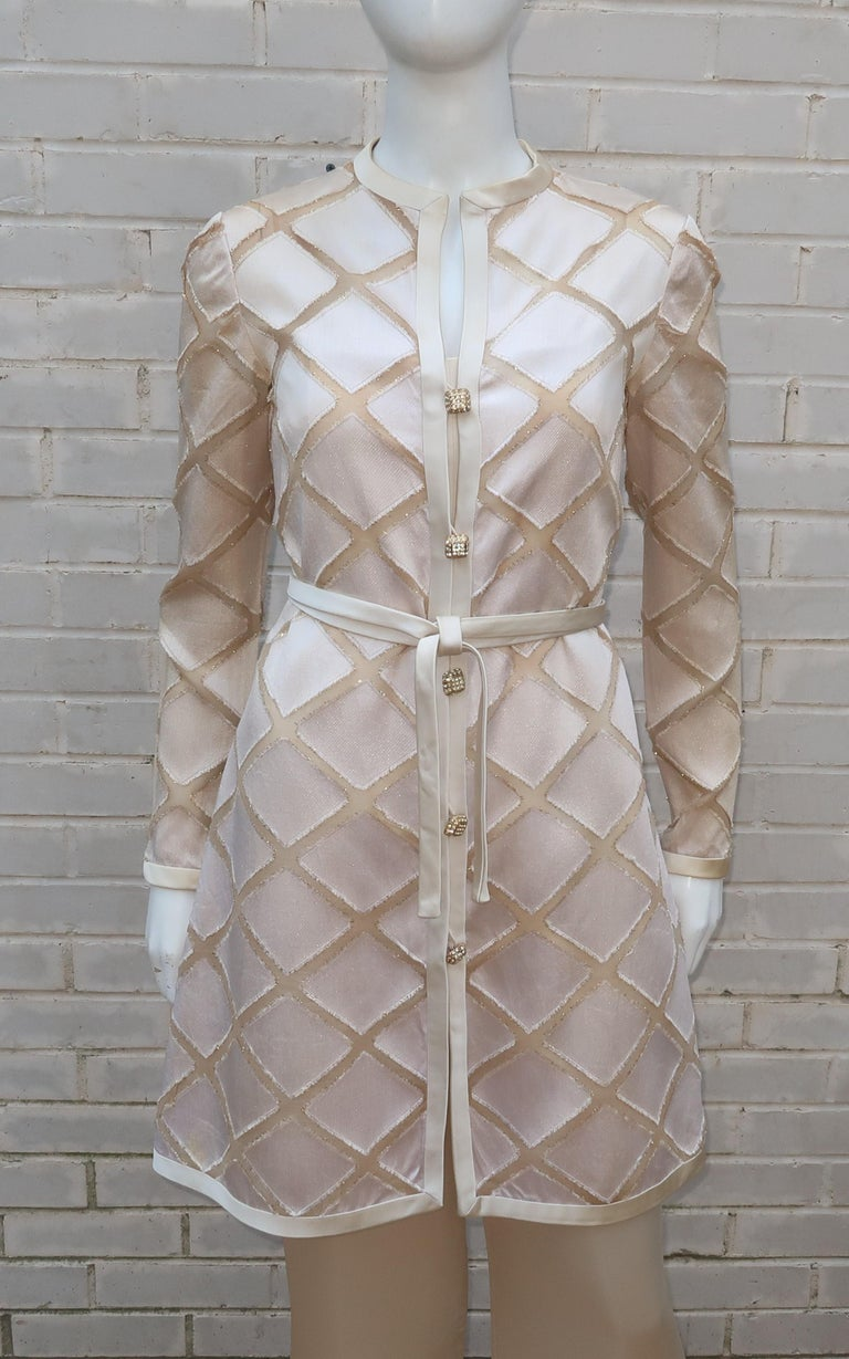 Elinor Simmons for Malcolm Starr Satin Jumpsuit With Jacket, circa 1970 For Sale 5