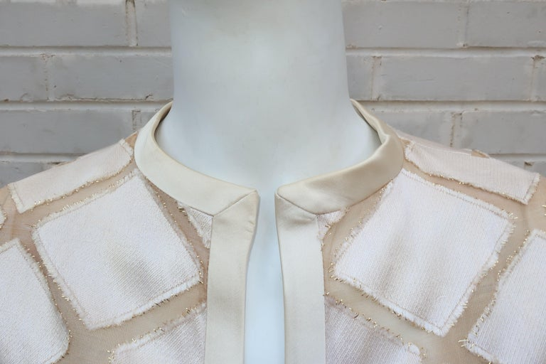 Elinor Simmons for Malcolm Starr Satin Jumpsuit With Jacket, circa 1970 For Sale 6