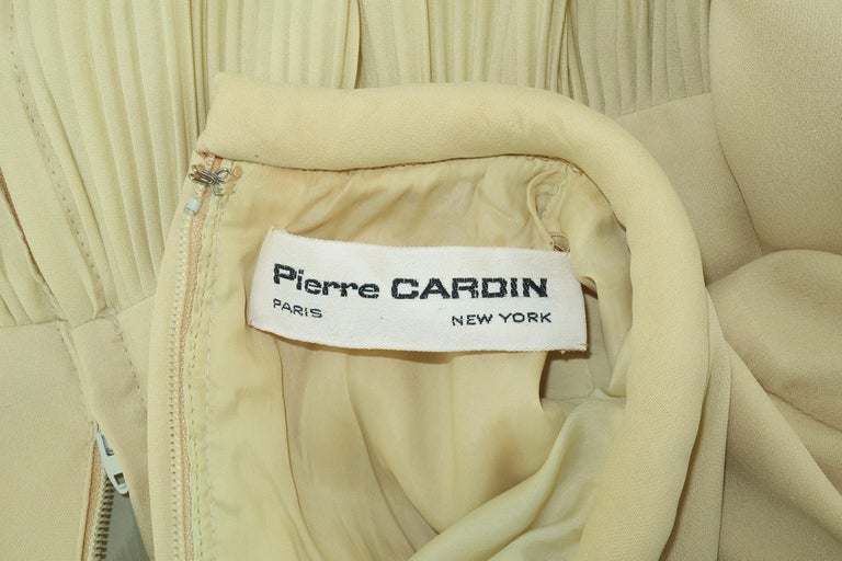 1960's Pierre Cardin Micro Pleated Silk Trapeze Dress For Sale 9