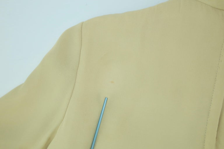1960's Pierre Cardin Micro Pleated Silk Trapeze Dress For Sale 13