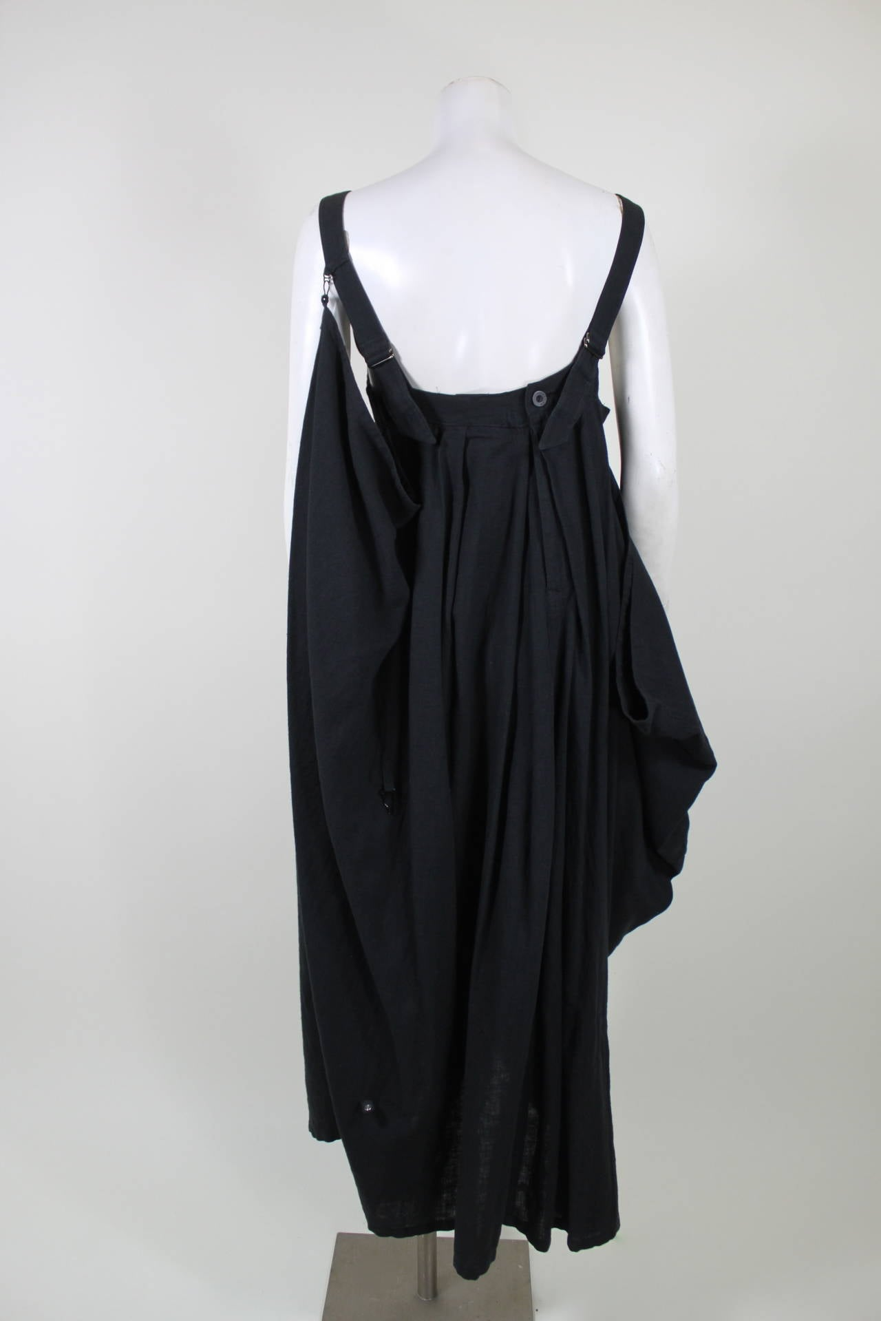 Kansai Black Linen Dress with Cocoon Coat 5