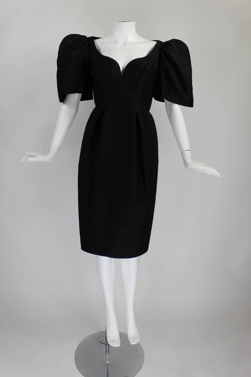 Late 1950s Galanos Architectural Cocktail Dress 2