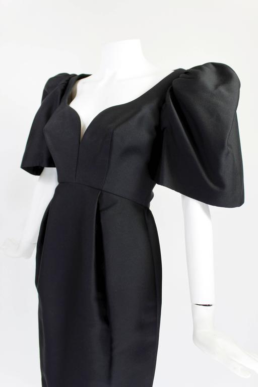 Late 1950s Galanos Architectural Cocktail Dress 4