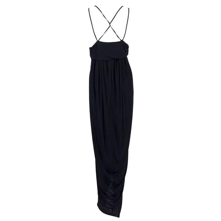 1990s Alexander McQueen Jersey Goddess Gown  3