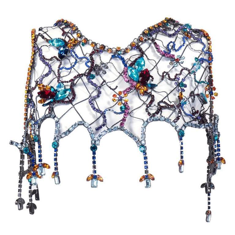 Stunning Multi-Color Jewelled Chain Bolero 2