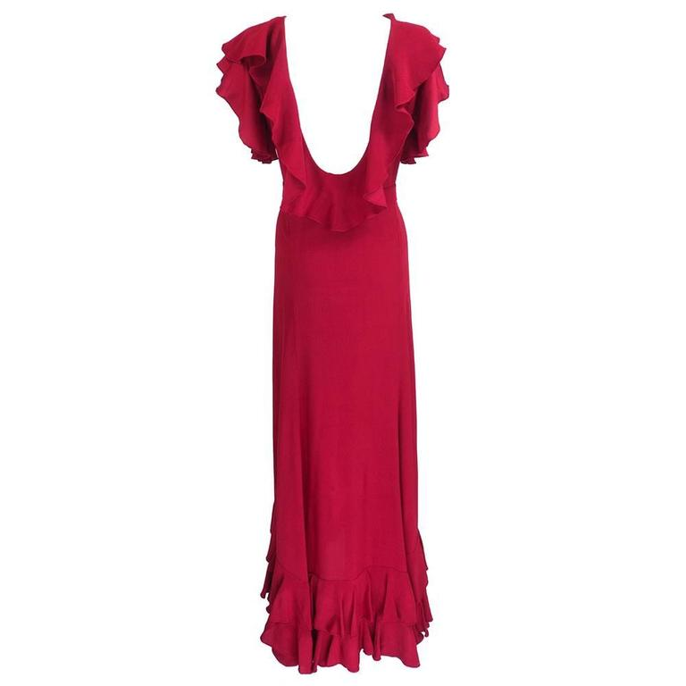1930s Deco Red Gown 3