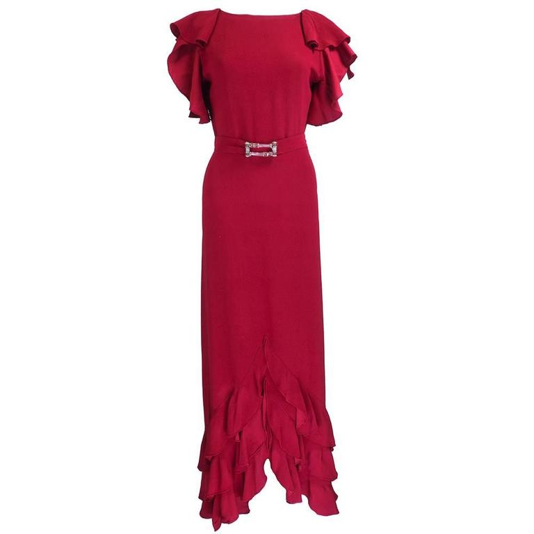 1930s Deco Red Gown 2
