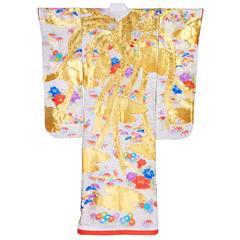 Ivory Japanese Uchikake Wedding Kimono