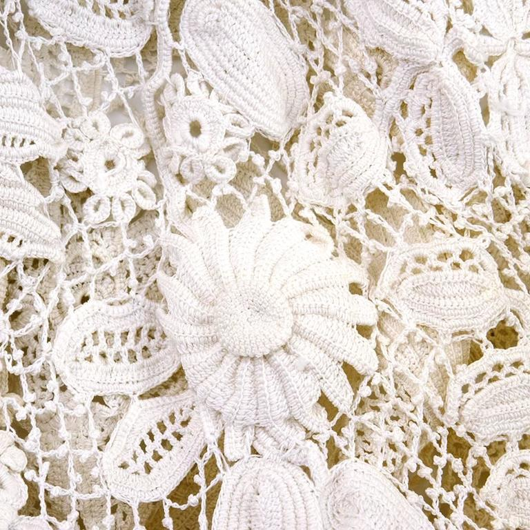Victorian Irish Crochet Full Length Coat 4