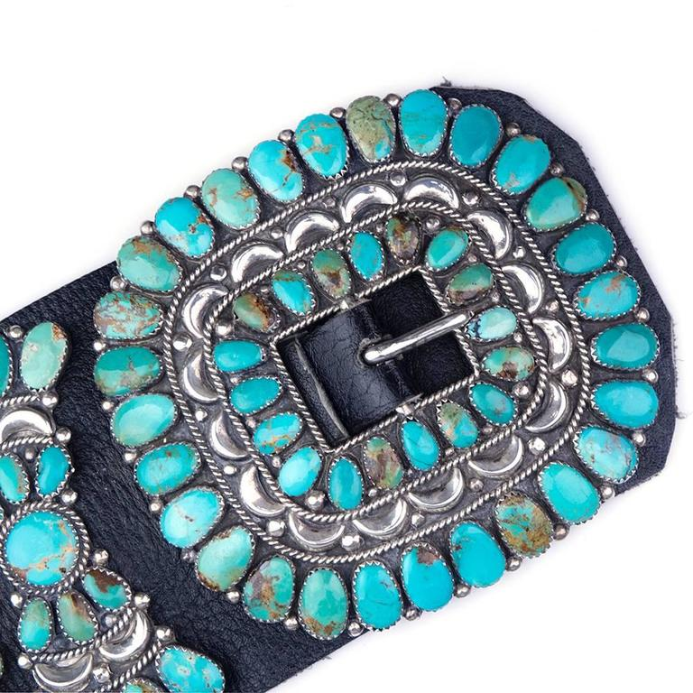 Late 20th century Turquoise Conch Belt 3