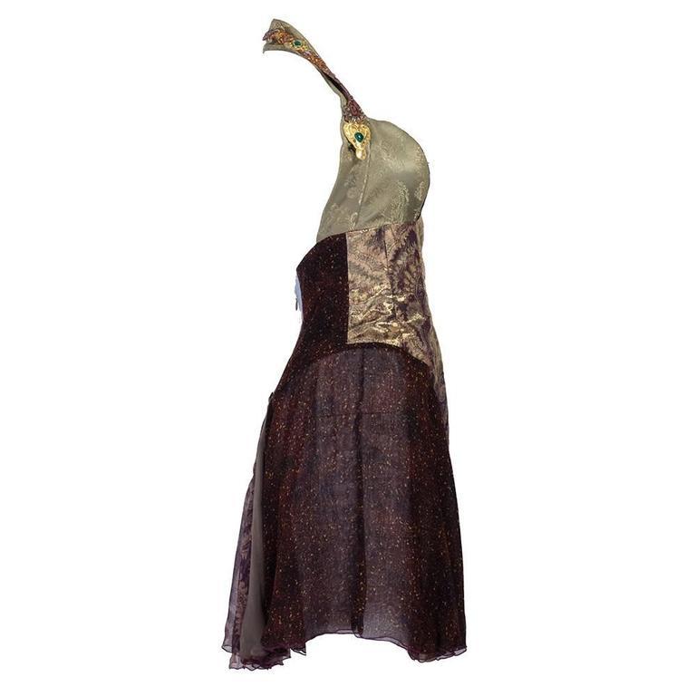 1990s Christian Lacroix Halter Cocktail Mini Dress 3