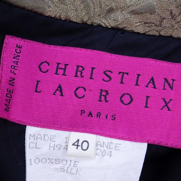 1990s Christian Lacroix Halter Cocktail Mini Dress 4