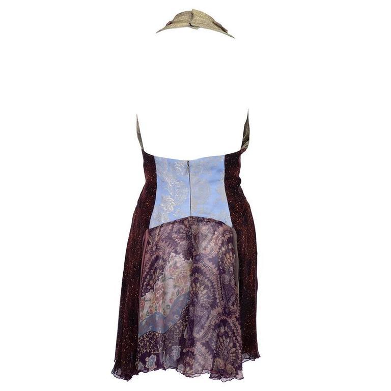 1990s Christian Lacroix Halter Cocktail Mini Dress 2