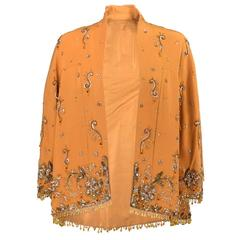 1960s Unlabeled Heavily Embellished Evening Jacket